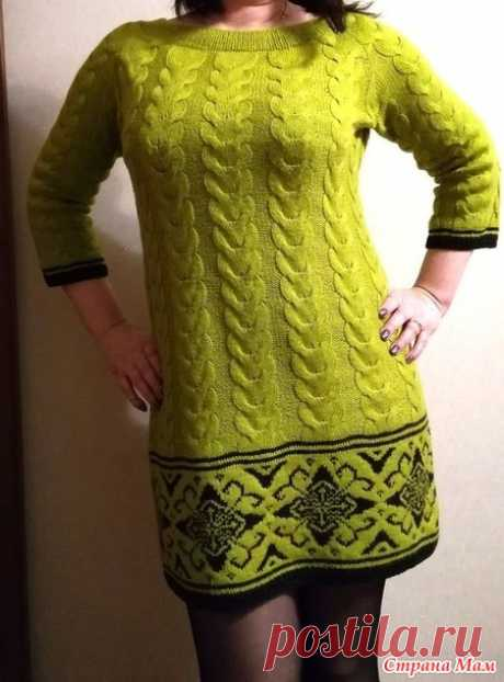 . A dress tunic with Jacquard - Knitting - the Country of Mothers