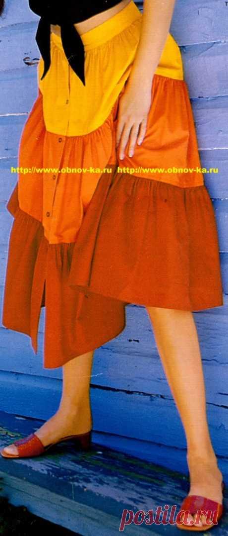 Красивые летние и пляжные юбки