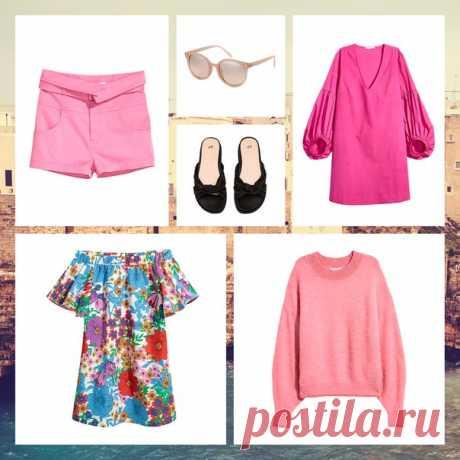 Цветы, оттенки розового и объемные, пышные рукава - создайте восхитительный яркий образ! #HM