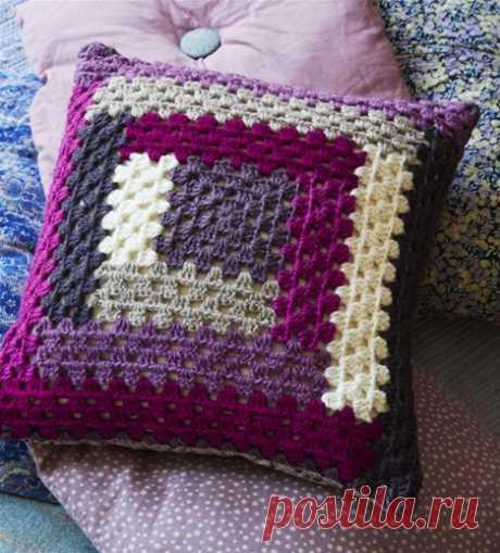 Сделать красивую подушку крючком бревенчатый дом - ее мир