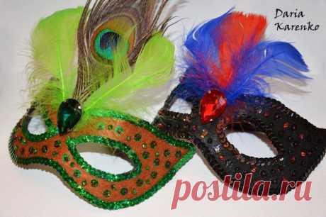 DIY Шикарные карнавальные маски своими руками. Мастер класс
