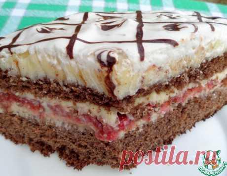 Черемухово – клубничный торт – кулинарный рецепт