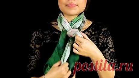 Как красиво завязать шарф или платок на шее! Оригинальные и простые идеи.