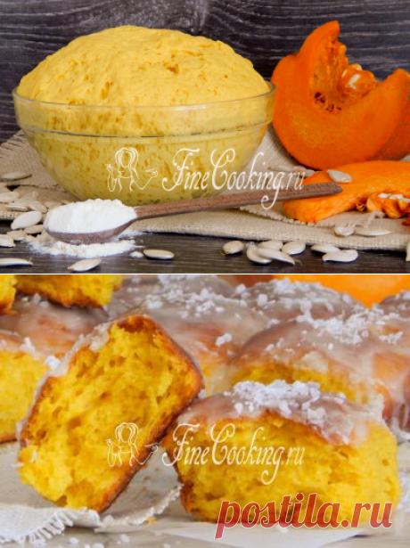 Сдобное дрожжевое тесто с тыквой и творогом - рецепт с фото