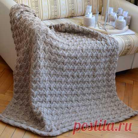 Вязание пледов и покрывал на диван, технология рабочего процесса