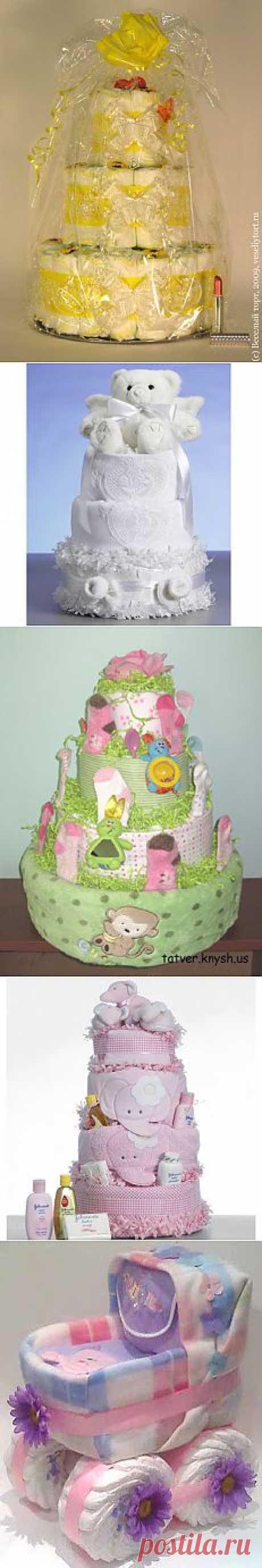 Чудесный тортик для малышей. Из памперсов!.