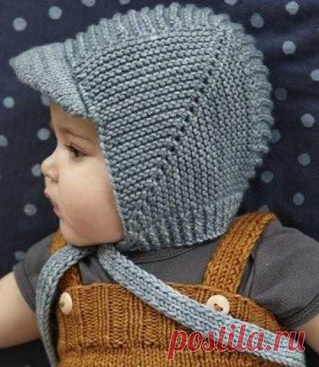 Шапочка для мальчика (Вязание спицами) | Журнал Вдохновение Рукодельницы
