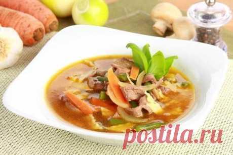 Суп из говядины с грибами и лапшой – пошаговый рецепт с фото.