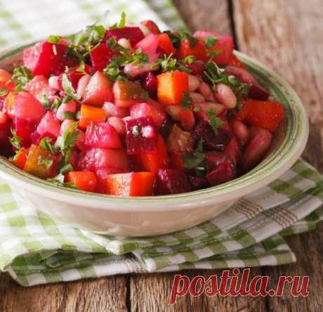 Салат из свеклы с фасолью - рецепт приготовления с фото от Maggi.ru