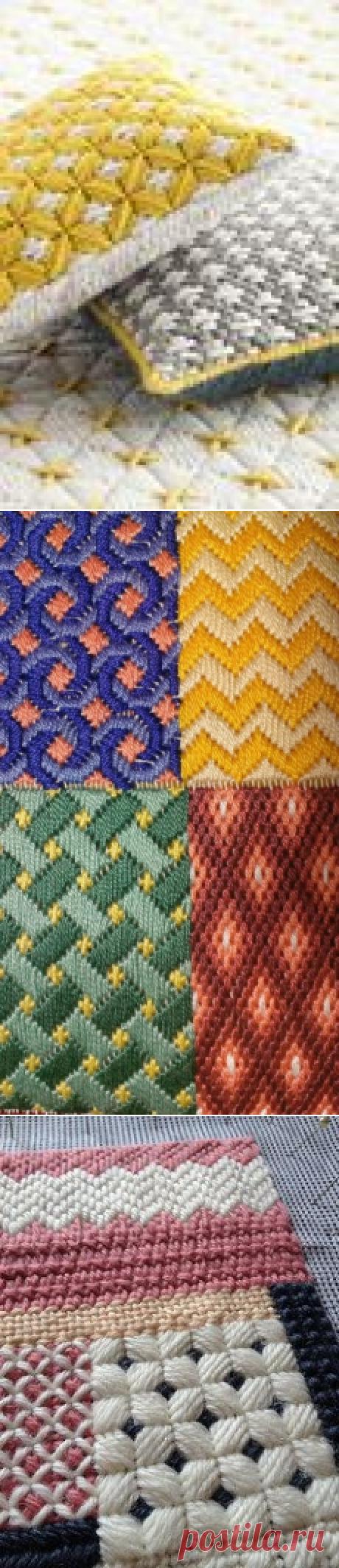 Барджелло - вышивка на сетке.