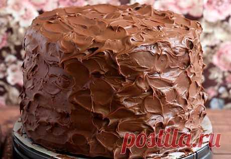 Я в него влюбилась раз и навсегда! Шоколадный торт. Идеальный! Приятного аппетита!