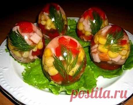 Красиво и вкусно! Заливные «яйца» — Фактор Вкуса