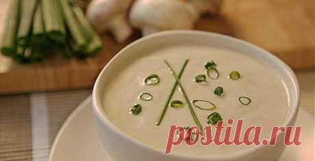 Диетический крем-суп из шампиньонов..