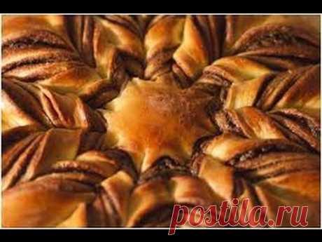 Рецепт-Пирог Цветок с начинкой Nutella