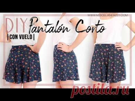 DIY PANTALÓN | Cómo hacer un pantalón corto con vuelo