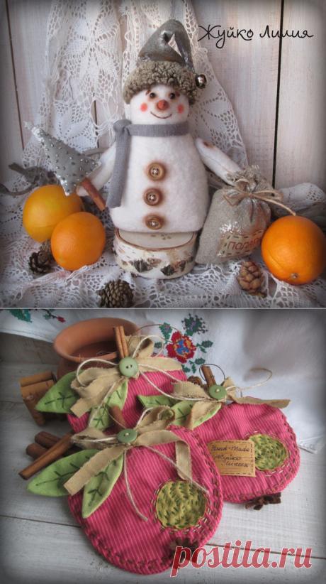 Новогодние игрушки . Авторские работы Жуйко Лилии.