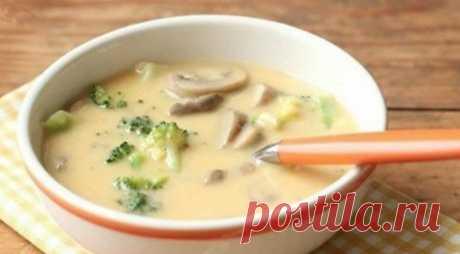 Сырный суп с брокколи и шампиньонами — нежный и сливочный. - СУПЕР ШЕФ
