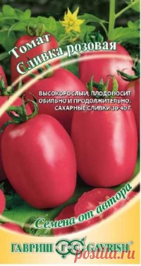 """Семена. Томат """"Сливка розовая"""" (вес: 0,1 г) Всхожесть: 90%. Среднеранний. Созревание плодов наступает на 100-107 день после полных всходов. Растение индетерминантное, полураскидистое, средневетвистое, среднеоблиственное, высотой более 1 м. Лист обыкновенный, средний, темно-зеленый, слабогофрированный, без прилистников. Соцветие..."""