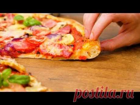 Тесто для пиццы ☆ Тонкое с мягкими корочками ☆ Идеальный рецепт теста на пиццу - YouTube