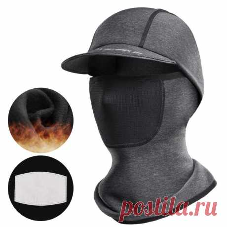 Wheel up bike head scarf universal face mask winter warm uv-proof hat breathable windproof with filter pad cycling hiking Sale - Banggood.com