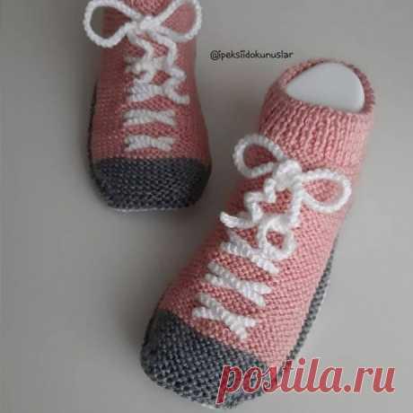 Забавные носки-кеды: мастер-класс