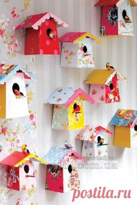 Домики для птиц из бумаги