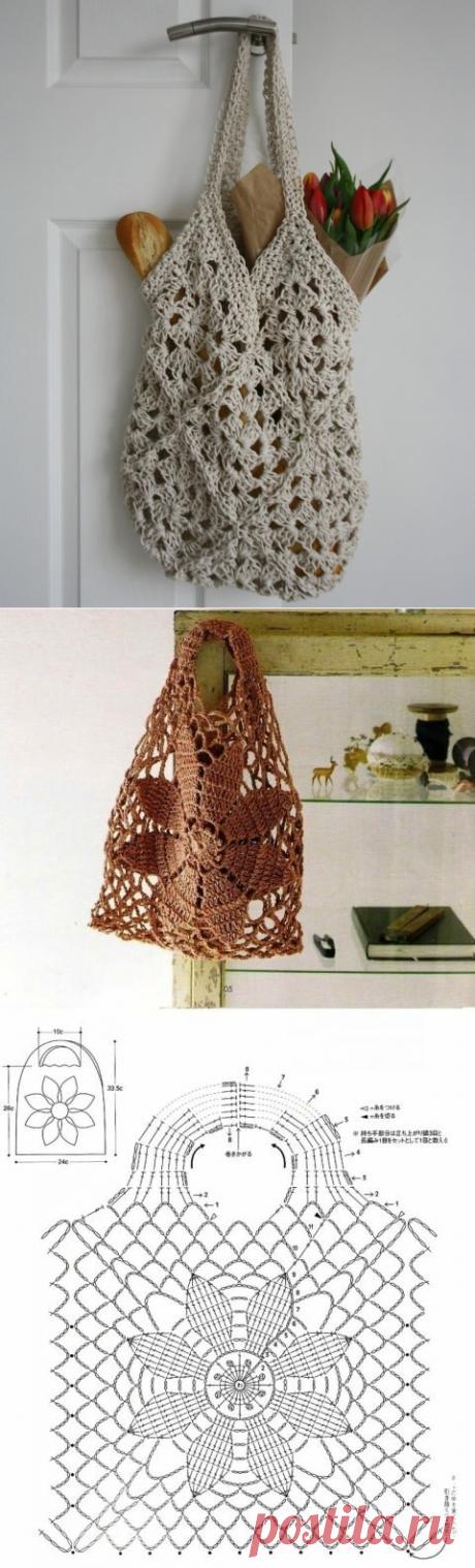 Авоськи крючком: принцип вязания, выбор пряжи, модели для примера | Вязание и творчество | Яндекс Дзен