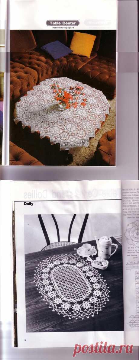 Салфетки в Ondori The Elegance of Crochet Lake.