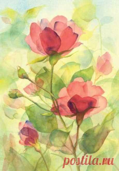 Урок рисования: цветы — Сделай сам, идеи для творчества - DIY Ideas