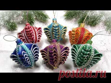НОВОГОДНИЕ ИГРУШКИ 🎄 своими руками из фоамирана / christmas diycraft