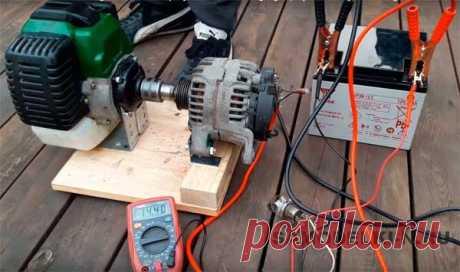 Самодельный бензиновый генератор, делаем своими руками | Самоделки своими руками