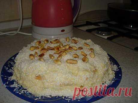 Любимый кокосовый торт без выпечки   Готовим вместе