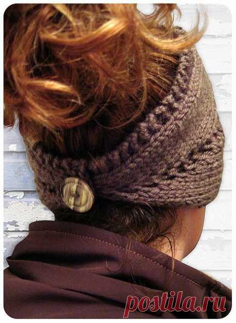 headband/neckwarmer.  Free pattern. / Рукоделие / спицами / Pinme.ru