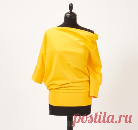 Nähanleitung und Schnittmuster für das gelbe bernette Shirt In einer Schritt-für-Schritt-Anleitung mit Anleitungsvideo zeigen wir dir wie du ganz einfach das gelbe bernette Shirt nachnähen kannst.