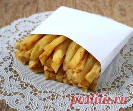 Картофель фри без масла - диетический рецепт