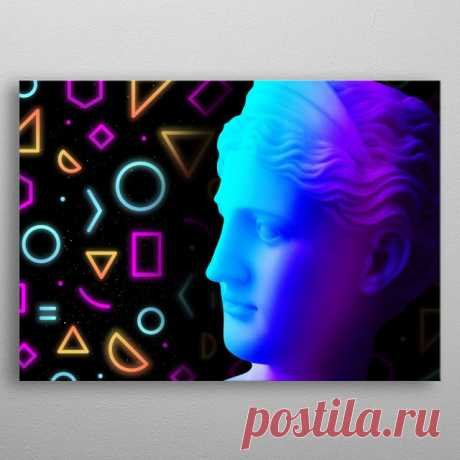 Ancient neon gods Demeter Pop Art Poster Print | metal posters - Displate