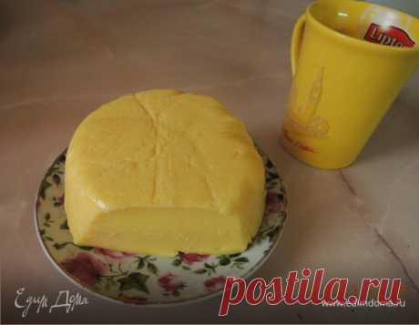 Домашний твердый сыр. Ингредиенты: творог, молоко, сода | Официальный сайт кулинарных рецептов Юлии Высоцкой