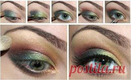 Красивый макияж для зелёных и серых глаз - ЖУРНАЛ СО ВКУСОМ