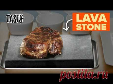 I Tested Cooking Steak On A Lava Stone • Tasty