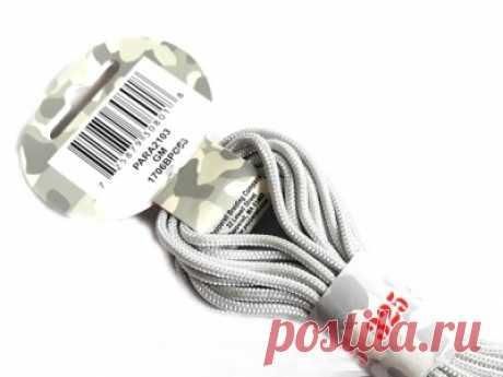 210Р--3ММ-PARA2103 Para Cord 325 Gun Metal, шнур серый 6,4 метра - купить по низким ценам