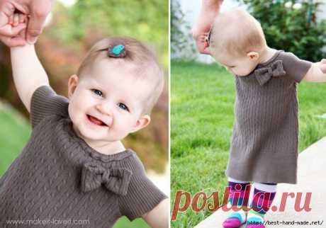 Стильные платья для малышек из маминых свитеров. Мастер-классы.