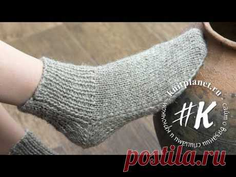 Socks on two spokes without seam. Easily! (heel boomerang)