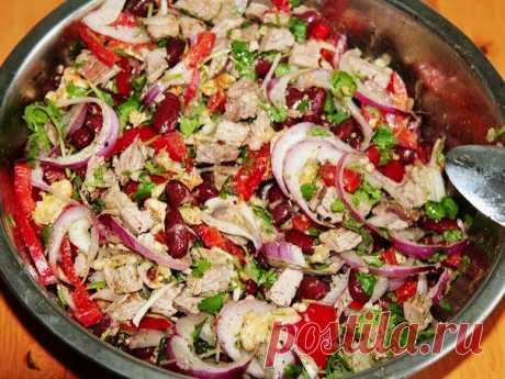 """Салат """"Тбилиси"""" с красной фасолью - лучший сайт кулинарии"""