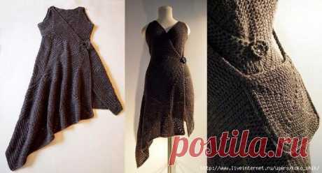 Платье-конструктор крючком из бабушкиных квадратов от дизайнера Virpi Marjaana Siira, как связать: Обсуждение на LiveInternet - Российский Сервис Онлайн-Дневников