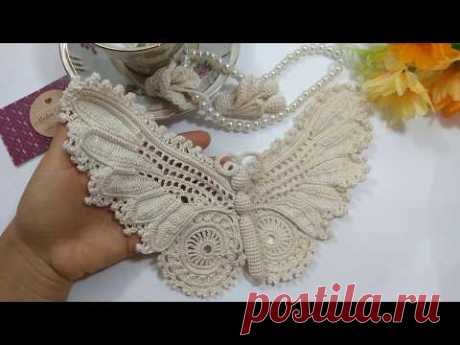 Como Tecer uma Beautiful Irish Crochet Butterfly Parte 2 Final