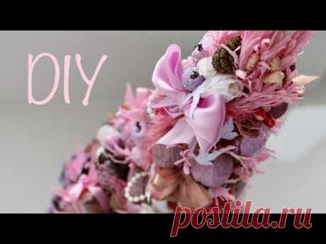 Елочка в стиле Шебби шик своими руками / DIY Shabby chic Christmas Tree - YouTube