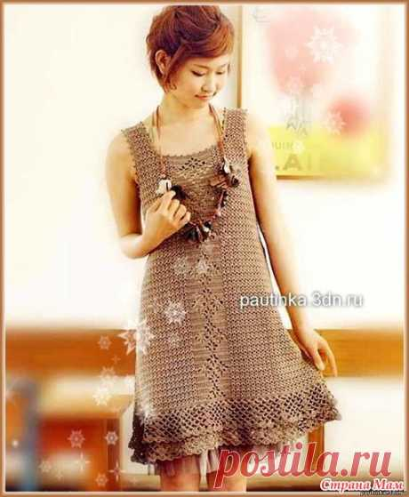 Летнее платье из хлопка, вязание крючком. - Вязание - Страна Мам