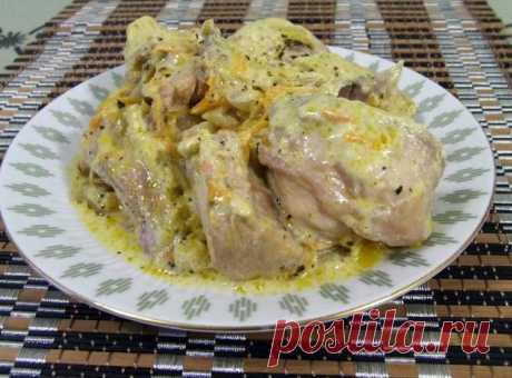 Кролик, томленый в сметанном соусе — Кулинарная книга - рецепты с фото