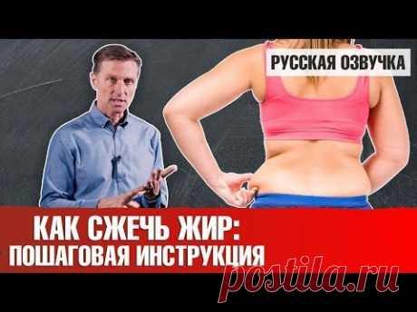 КАК СЖЕЧЬ ЖИР: пошаговая инструкция (русская озвучка)