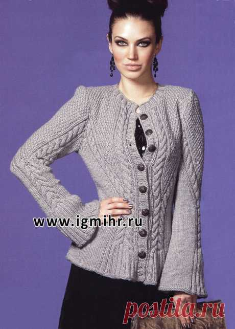 ELEGANT JACKET of COFFEE COLOUR WITH FLARED SLEEVES. SPOKES - record of the user Natalya (Natalya) in the community Knitting spokes in the category Knitting for women spokes. Schemes of knitting by spokes Source of http:\/\/igmihrru.ru\/MODELI\/sp\/jaket\/157\/157.